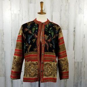 Sag Harbor Tapestry Jacket Size 10.